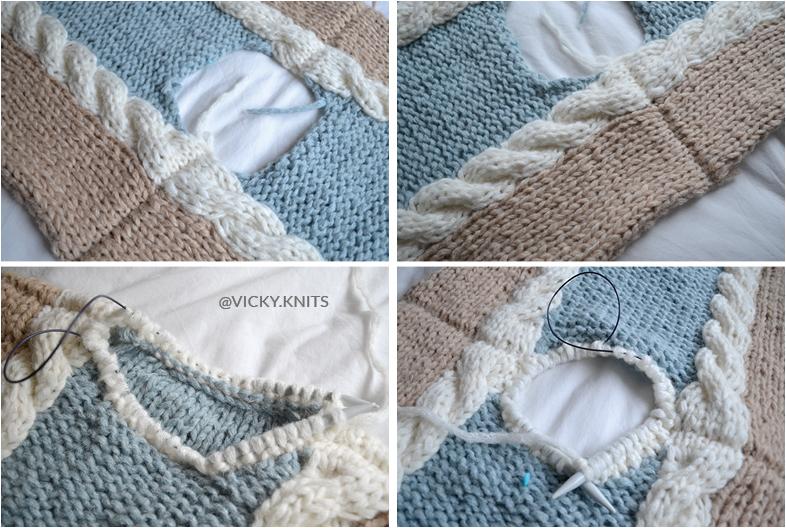 tricot pull épaule encolure