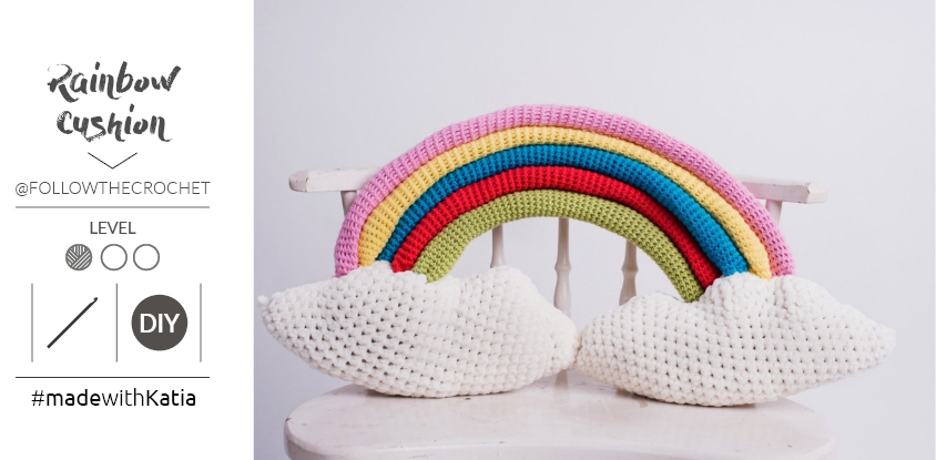coussin rainbow au crochet patron 3