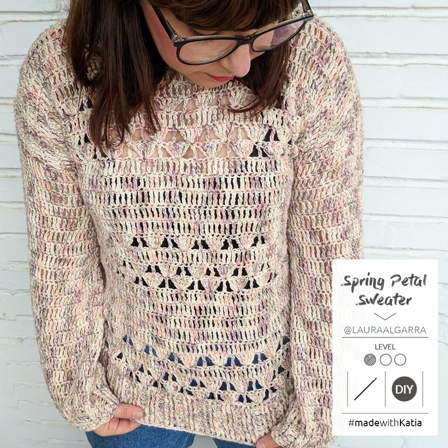 pull facile au crochet spring petal