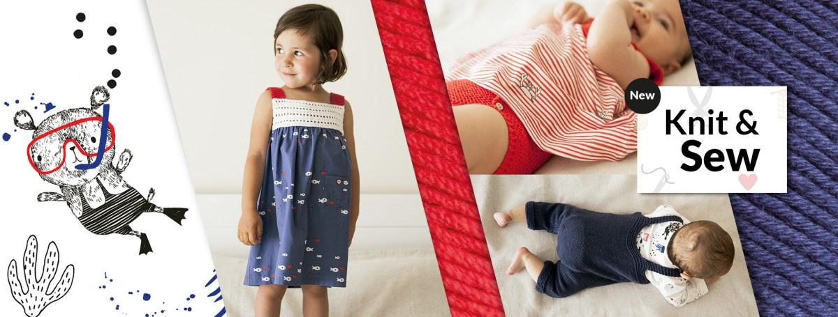 Crochet et couture ou tricot et couture: à vous de choisir! Découvrez les nouveaux patrons Knit and Sew.