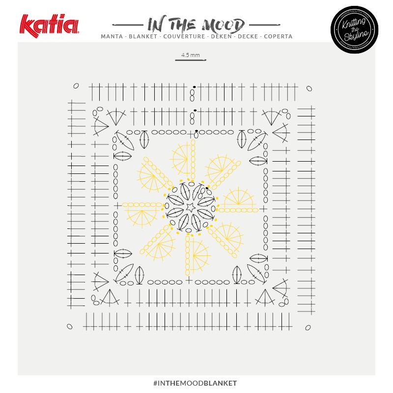graphique crochet couverture émotions In the mood blanket azalea