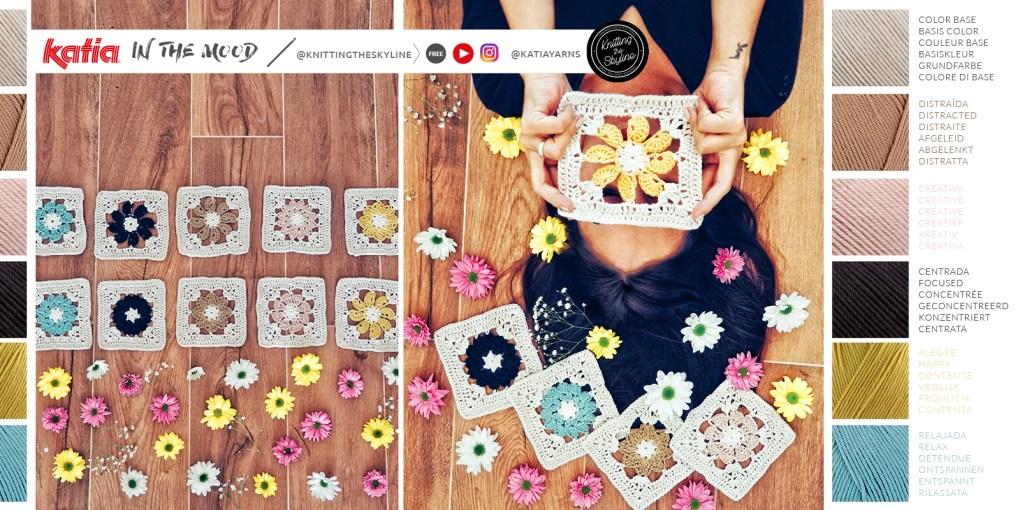 granny square fleur crochet couverture émotions In the mood blanket slide