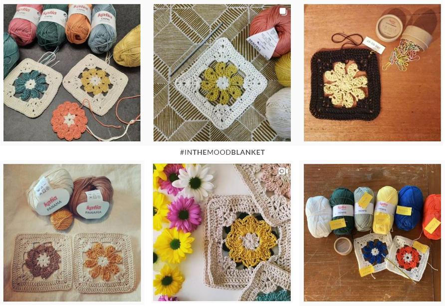 granny square fleur crochet couverture émotions In the mood blanket instagram