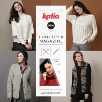 Nouveautés Katia Automne Hiver 2019-2020: Découvrez le nouveau catalogue et les 6 nouveaux fils de Concept by Katia