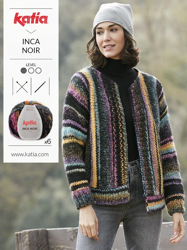 fils multicolores inca noir