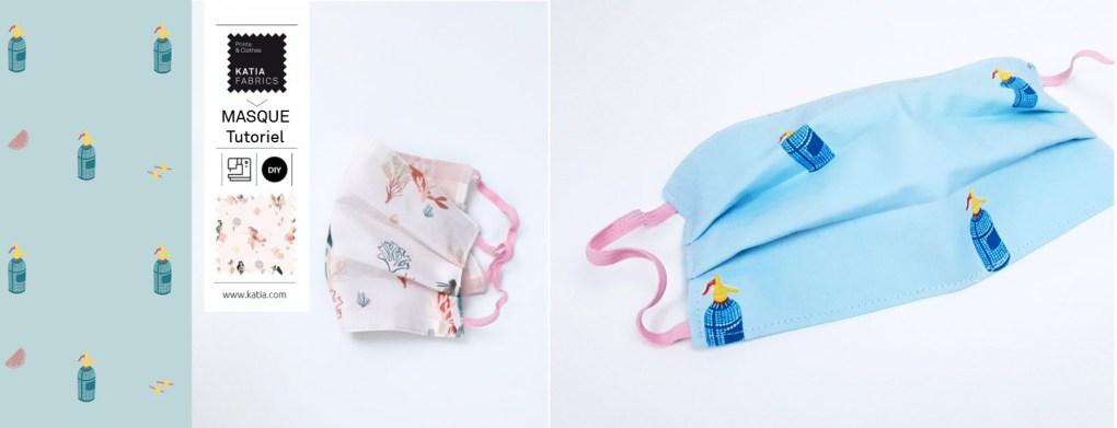 coudre un masque en tissu slide