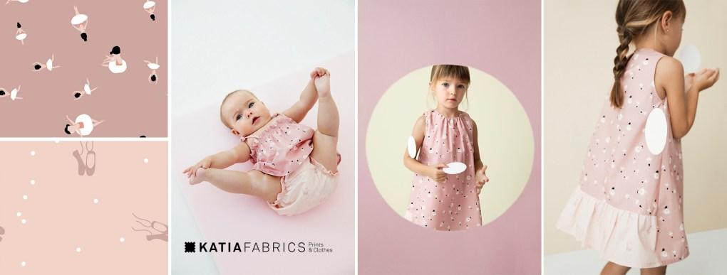 collection-tissus-katia-fabrics-printemps-ete-2019 ballet