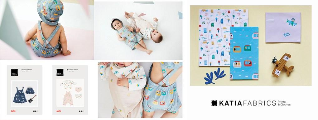 collection-tissus-katia-fabrics-printemps-ete-2019 travellers