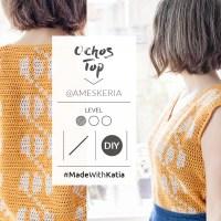 Top Ochos au crochet de Ameskeria: Un patron de tapestry crochet facile, léger et facile à porter