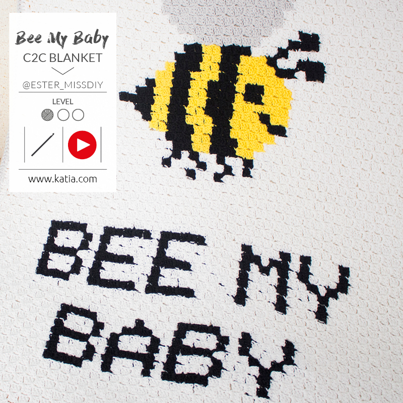 crochet c2c bee my baby feat