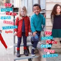 La moda bimbo lavorata a maglia, diversa e divertente per il ritorno a scuola con Katia Bambini 83