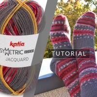 Come realizzare un paio di calzini identici con un gomitolo di Katia Jacquard Symmetric Socks