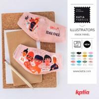 Come cucire facilmente mascherine con i nuovi Pannelli Revival e Illustrators di Katia Fabrics
