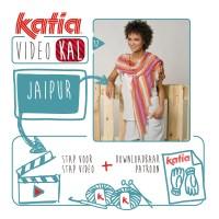 Brei deze kleurrijke sjaal Drakenstaart met slechts 2 bollen Katia Jaipur, sluit je aan bij de VideoKAL Speciaal Lente!