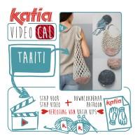 Haak een praktische opvouwbare net-tas met Katia Tahiti Een kit voor het maken van de volgende VideoKAL kan van jou zijn !