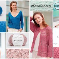 10 elegante en eenvoudige patronen om te maken met de natuurlijke garens van Concept by Katia