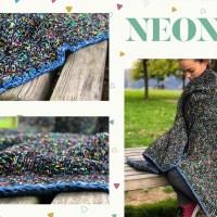 Neon Sky deken door Xamalo85: vrolijke kleuren, zachte garens en diamantsteek voor een goed humeur