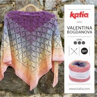 Ajour sjaal door Valentinasknits: brei deze omslagdoek met slechts een bol Katia Silk Degradé