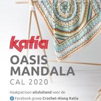 Oasis Mandala CAL 2020: haak mee en creëer een prachtige babydeken met Katia Basic Merino!