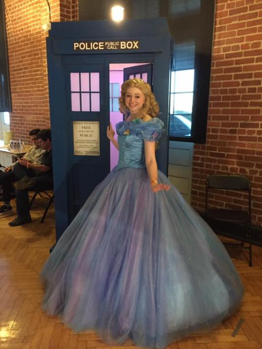 Cosplay of Cinderella (2015) at Raleigh Comic Con 2016.