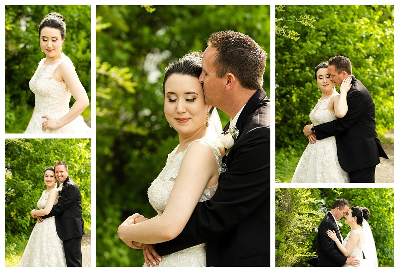 wedding photos of couple on wedding day