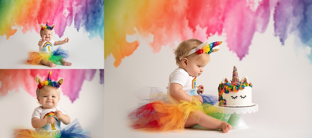 rainbow cakesmash