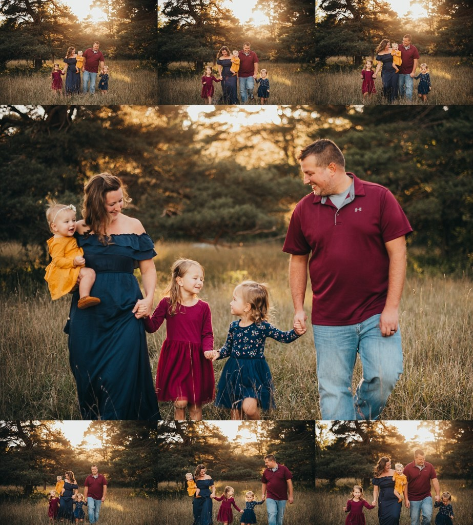 entire family candid photos
