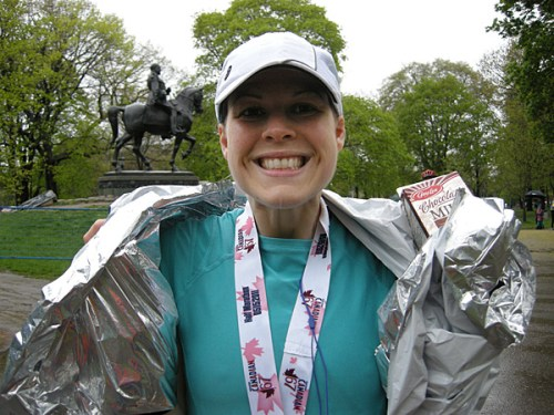 Katie Bartel RD completes the Toronto half marathon with type-1 diabetes