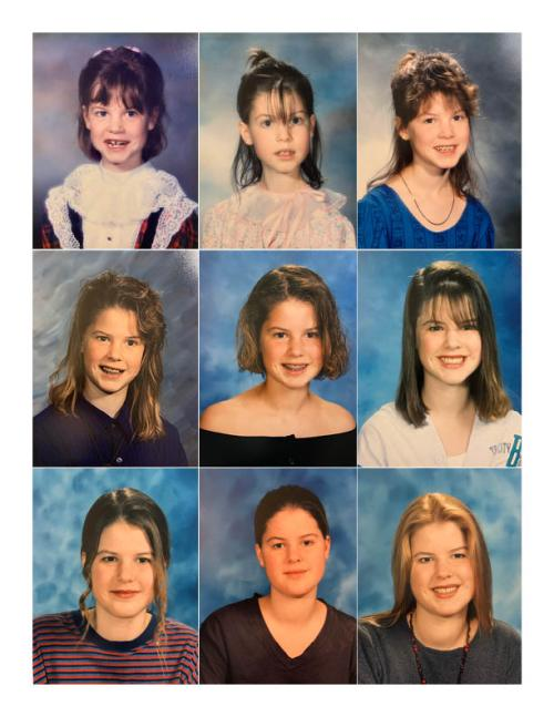 RD Katie Bartel shares the story of her type-1 diabetes early years through the progression of school photos