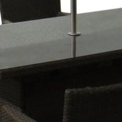 Outdoor Rattan Armchair Uk Eames Dining Chairs Sandringham 6 Seat Set Rectangular