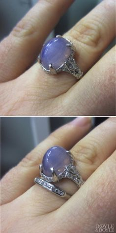 Star Sapphire Engagement Ring