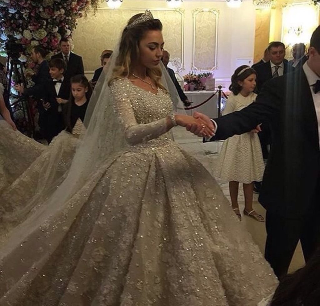 Elie Saab creates your custom wedding dress. Estimated cost? $1 Million.
