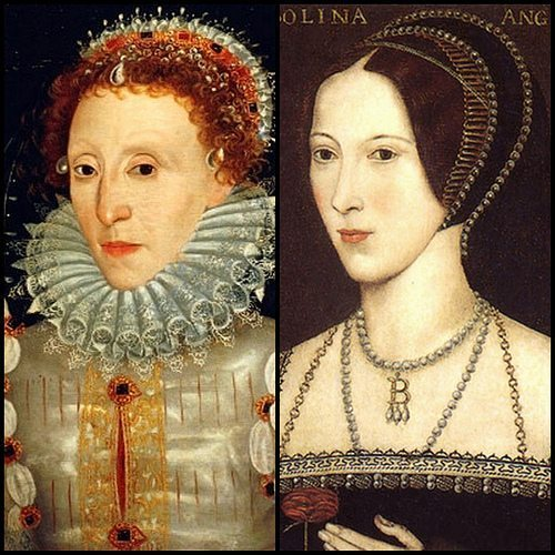 Queen Elizabeth I and Anne Boleyn Photo credit: Pinterest