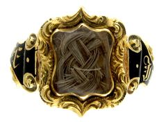 Victorian Mourning Jewelry Ring