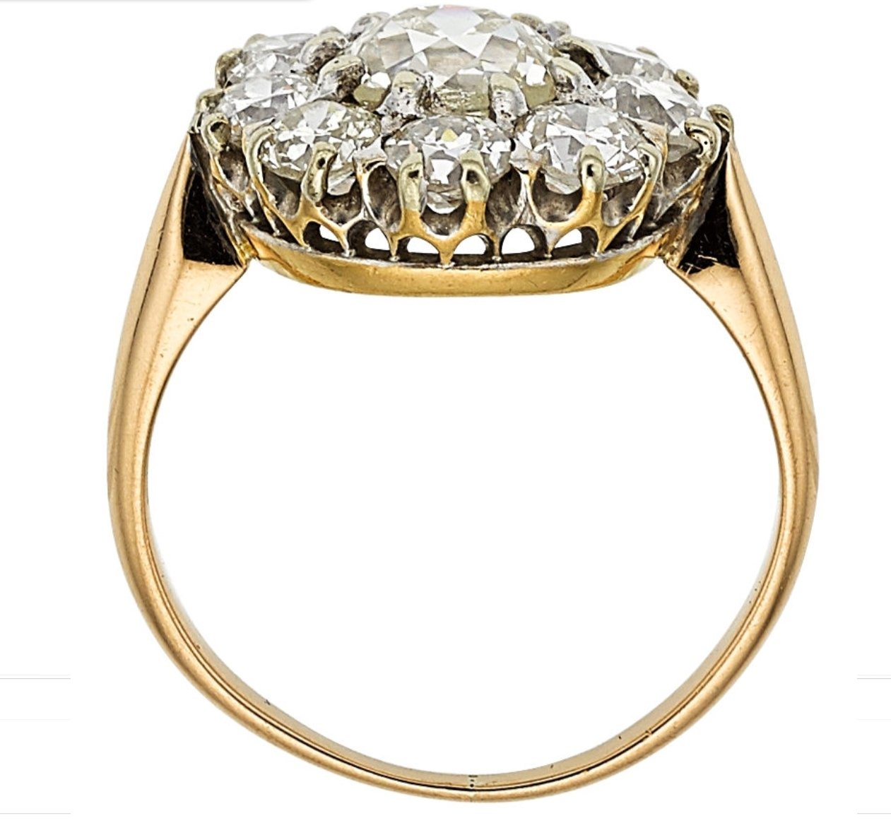 SOLD * 14kt Yellow Gold And Platinum Old European Cut
