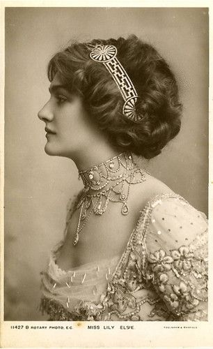 Miss Lily Elsie (1886-1962) - a celebrated Edwardian beauty and star of theater.