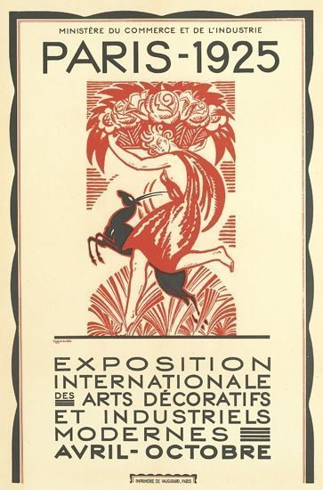 Poster for the Exposition International des Arts Décoratifs et Industriels Modernes, Paris 1925 by Robert Bonfils (1886-1972)