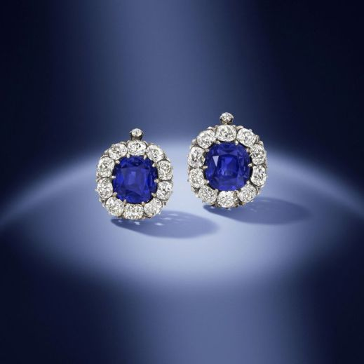 kashmir sapphire and diamond earrings