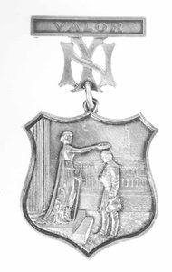 A medal awarded to a New York City police officer in 1877, and designed by Tiffany & Co
