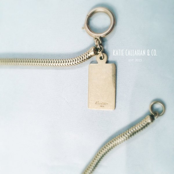 """14kt Yellow Gold Snake 18"""" Chain with 14kt Cartier Tag (Vintage)"""