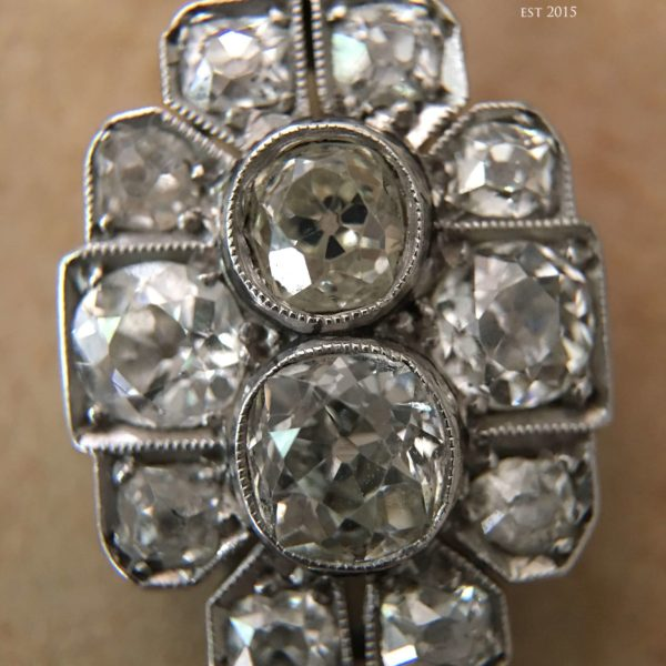 Old European and Old Mine Cut Diamond Pendant (Antique)