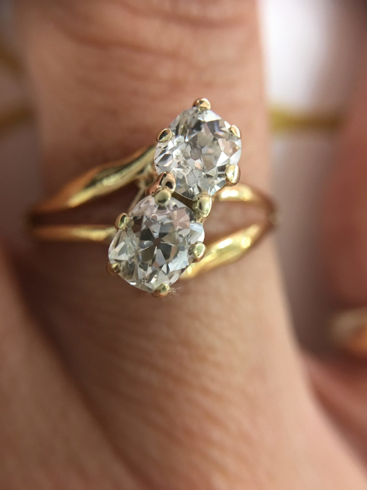 vintage gold white cut mine diamond ring old eng engagement thomas jewelers in size rings