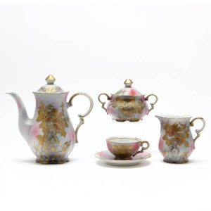 A Vintage Hand-Painted Demitasse Set c. 1940s