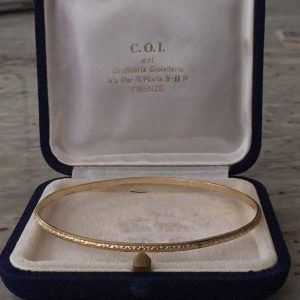 Victorian Gold Filled Patterned Bangle Bracelet (Antique)