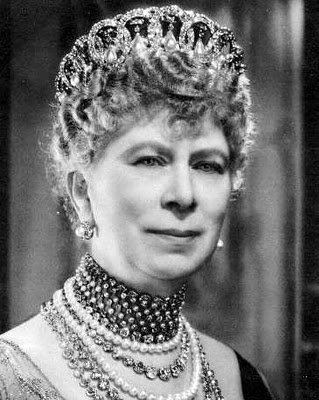 Queen Mary in the Grand Duchess Vladimir Tiara Emeralds