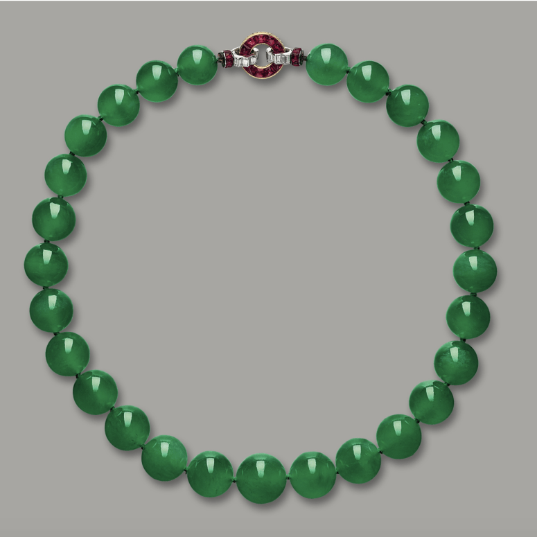 The World's Most Famous Jewelry: The Hutton-Mdivani Jadeite Necklace
