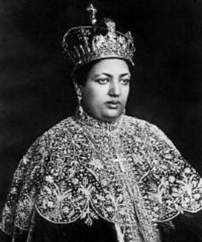 Empress Menen Asfaw with Crown