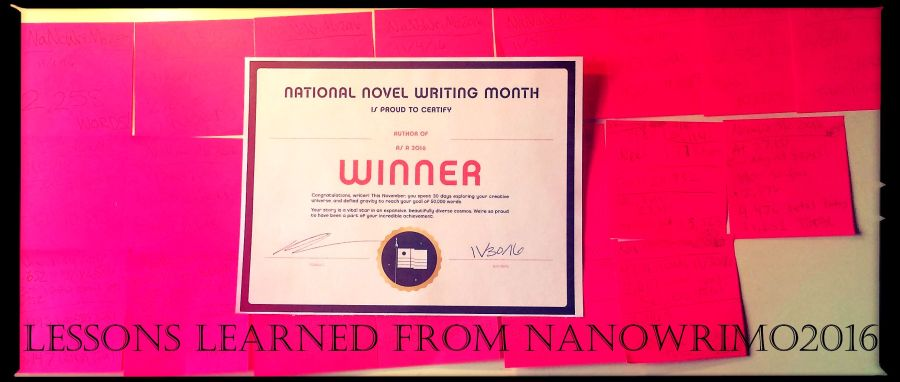 nanowrimo2016-winner-lessons-learned