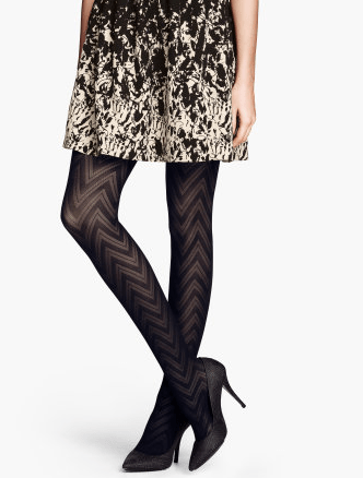 Patterned Tights at H&M; My Current Obsession: Tights & Leggings on Katie Crafts; http://www.katiecrafts.com