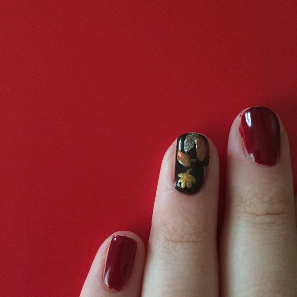 Fall Nail Art Design on Katie Crafts; http://www.katiecrafts.com